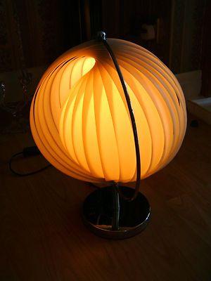 Vintage Dom Christian Koban Moon Table Lamp   Panton Design