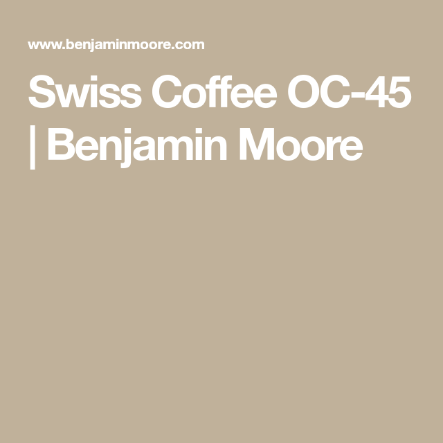 Swiss Coffee OC-45 | Benjamin Moore