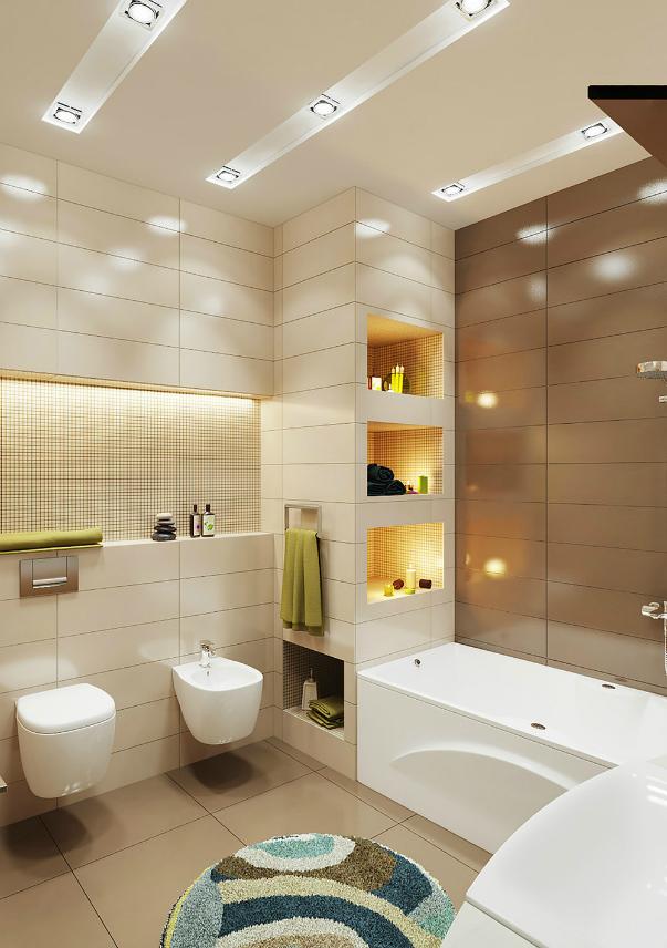 Фото цветовых решений для ванной комнаты. Каким цветов ...