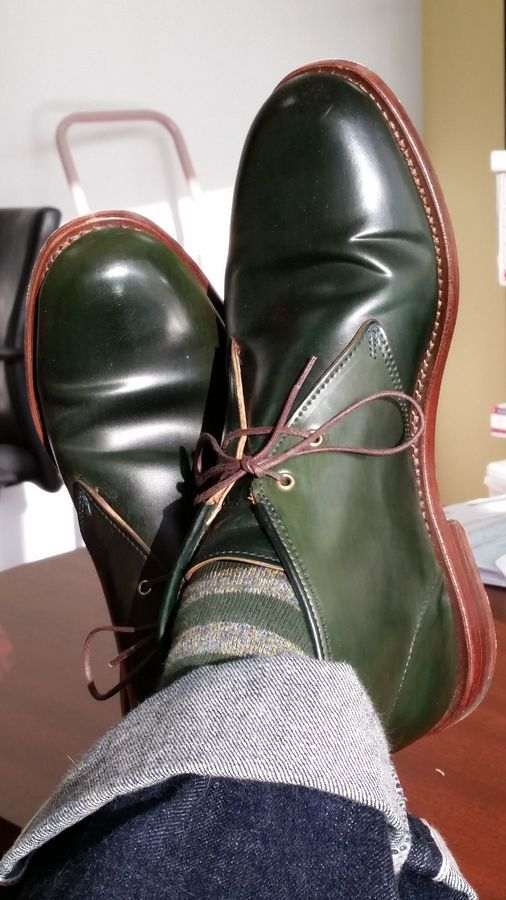 Shoes - Made in Maine - Page 55 Green shell cordovan chukkas