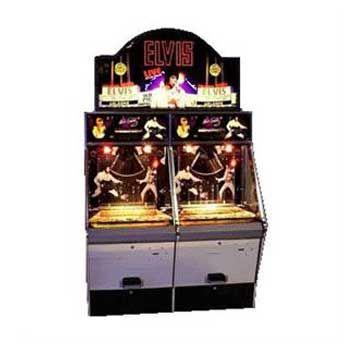Elvis Coin Pusher Arcade Game Our Stylish Coin Pusher Game Machine Features Spinning Lights And Elvis Music People Of Al Arcade Equipment Arcade Games Elvis