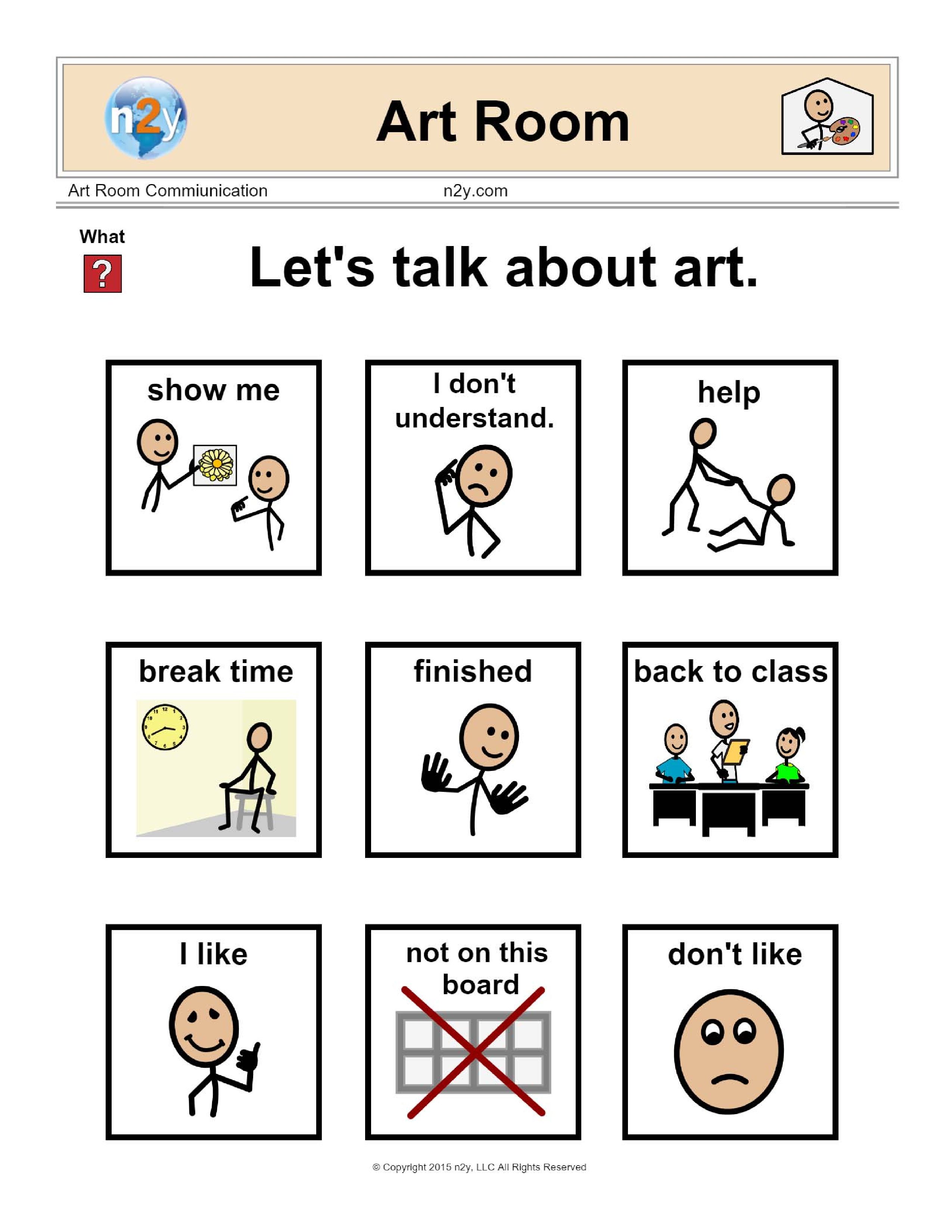 Let S Talk About Art With This N2y Communication Board