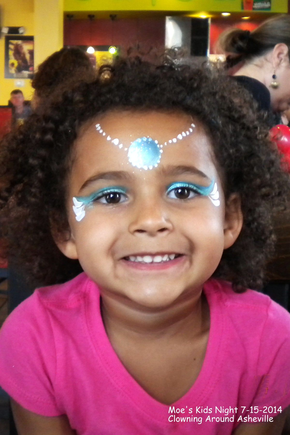 fast frozen princess face painting clowning around asheville
