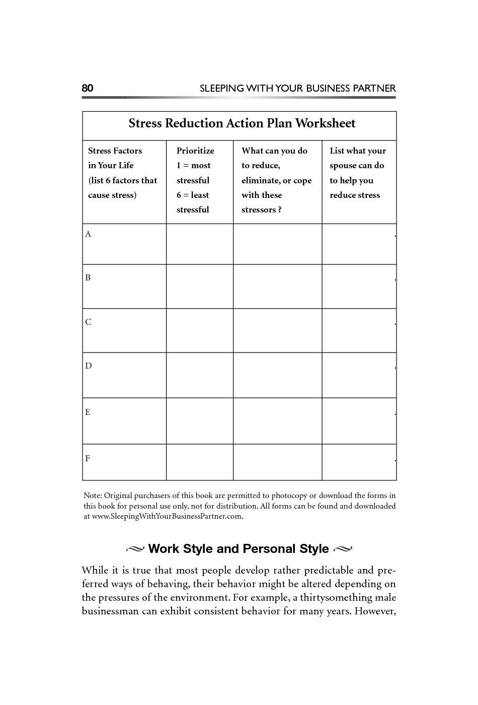 stress management worksheets | Stress Reduction Action Plan ...