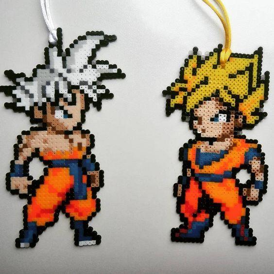 Diy Son Goku Dragon Ball 3d Bugelperlen Tutorial Perler Bead