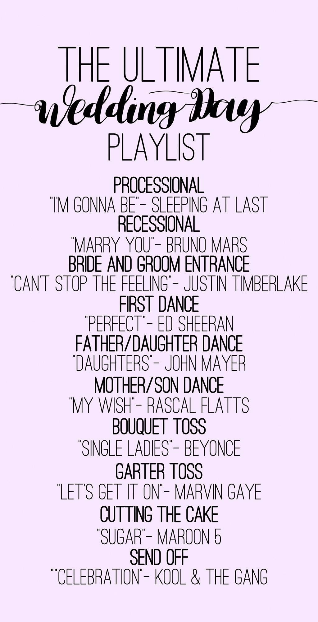 A playlist for all the important moments of your wedding