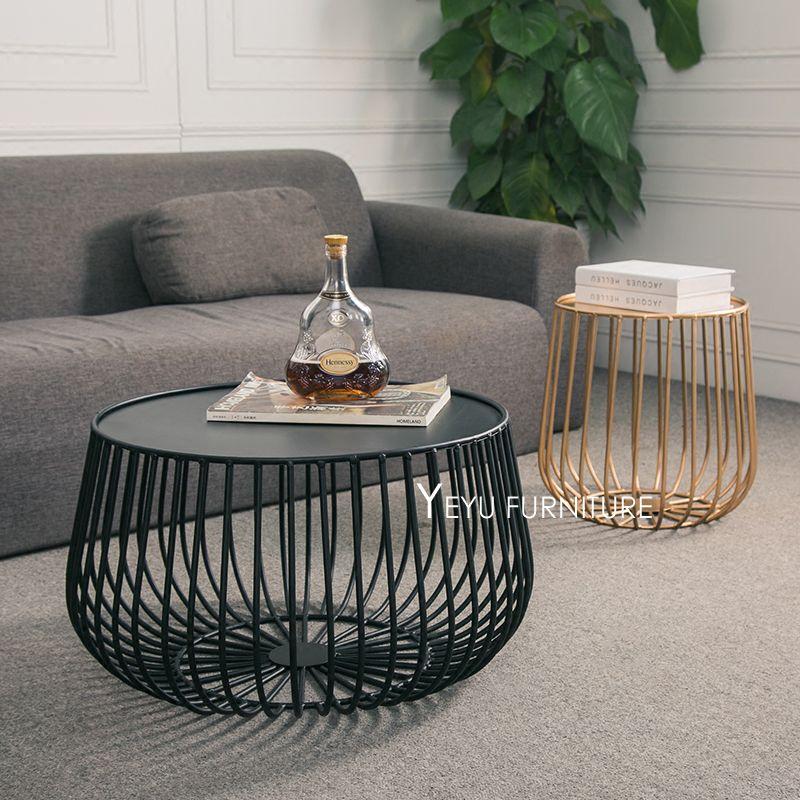 Minimalistischen Modernen Design Kürbis Schwarz Und Gold Metall Runde Tee  Tisch Wohnzimmer Seite Couchtisch Beistelltisch Größe
