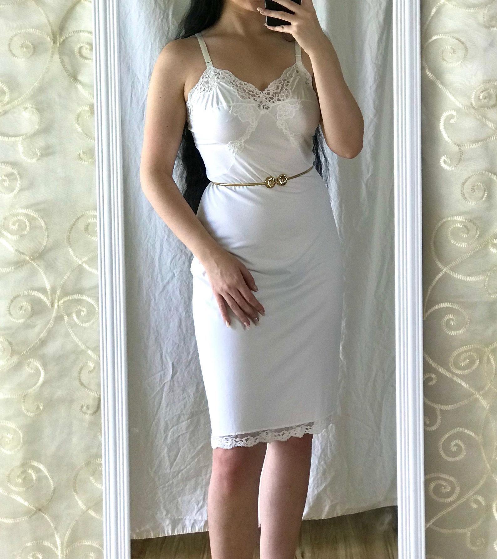 50 S White Satin Slip With Lace Gossard Artemis Lace Slip Dress Satin Slip Lace Slip [ 1786 x 1588 Pixel ]