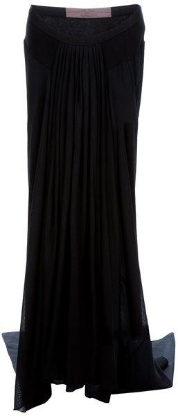 Long Draped Skirt - Lyst