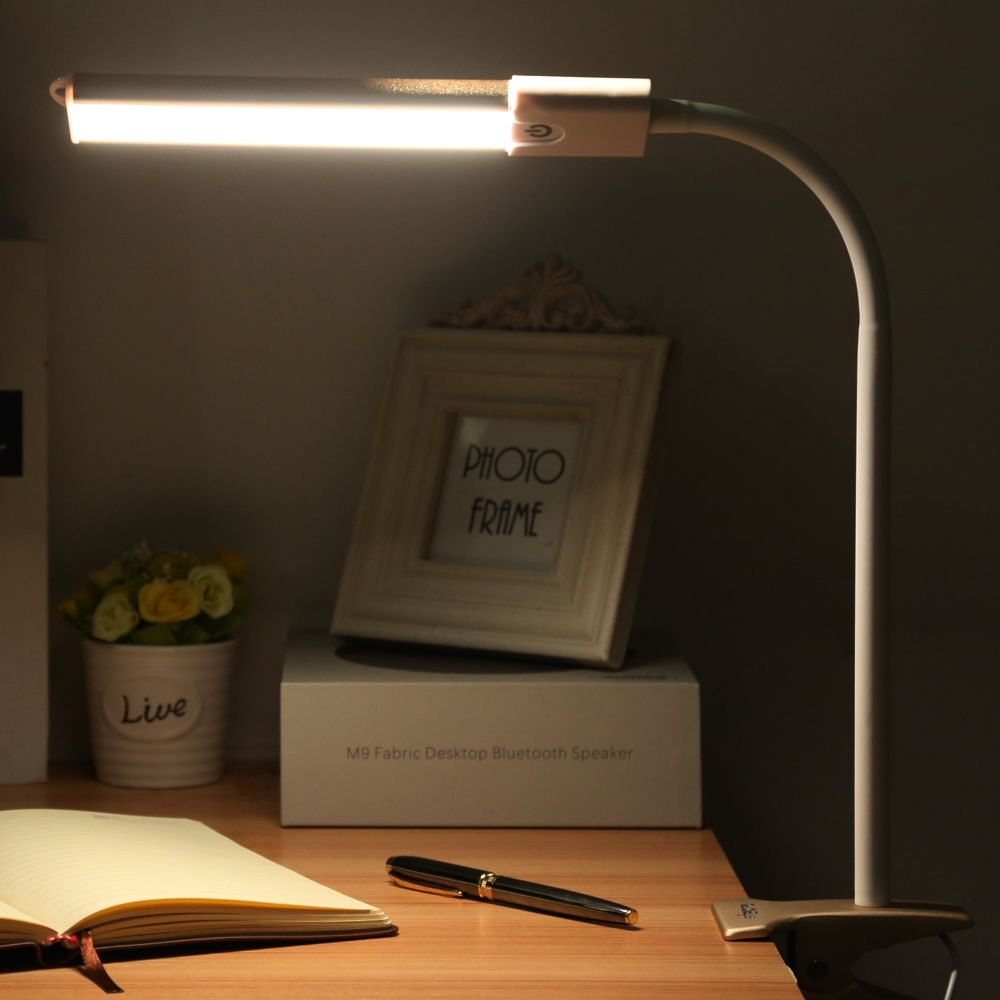Study Table Light Led Desk Lamp Clip Fixtures Touch Dimmable Eye Protection Bedside