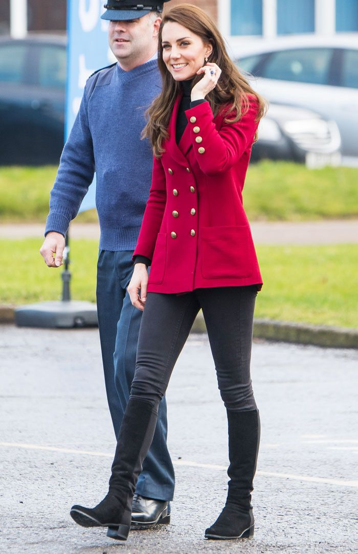 dbbcc90a0d Kate Middleton has stepped out in the same pair of black over-the-knee  boots twice this month—shop them here.