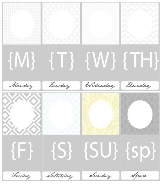 Printable Daily Outfit Hangers Print Out Each And Pick