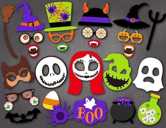 Instant Download Halloween Photo Booth Props The Nightmare