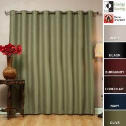 Wide Width Fire Retardant 96 Inch Polyester Blackout Curtain Panel