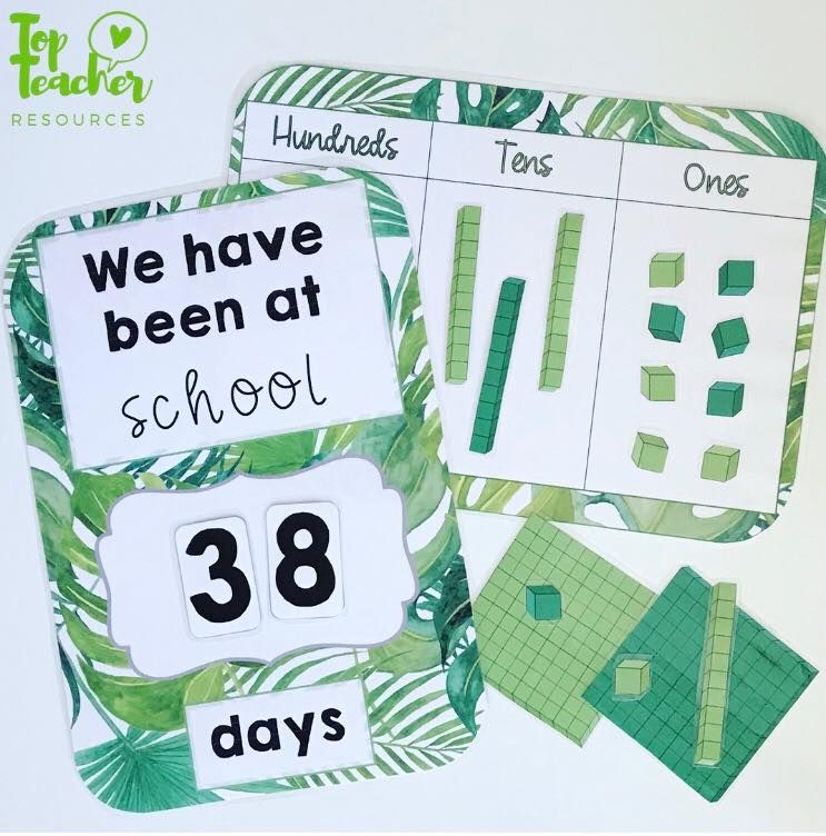 How Many Days At School With Numbers And A Hundreds, Tens