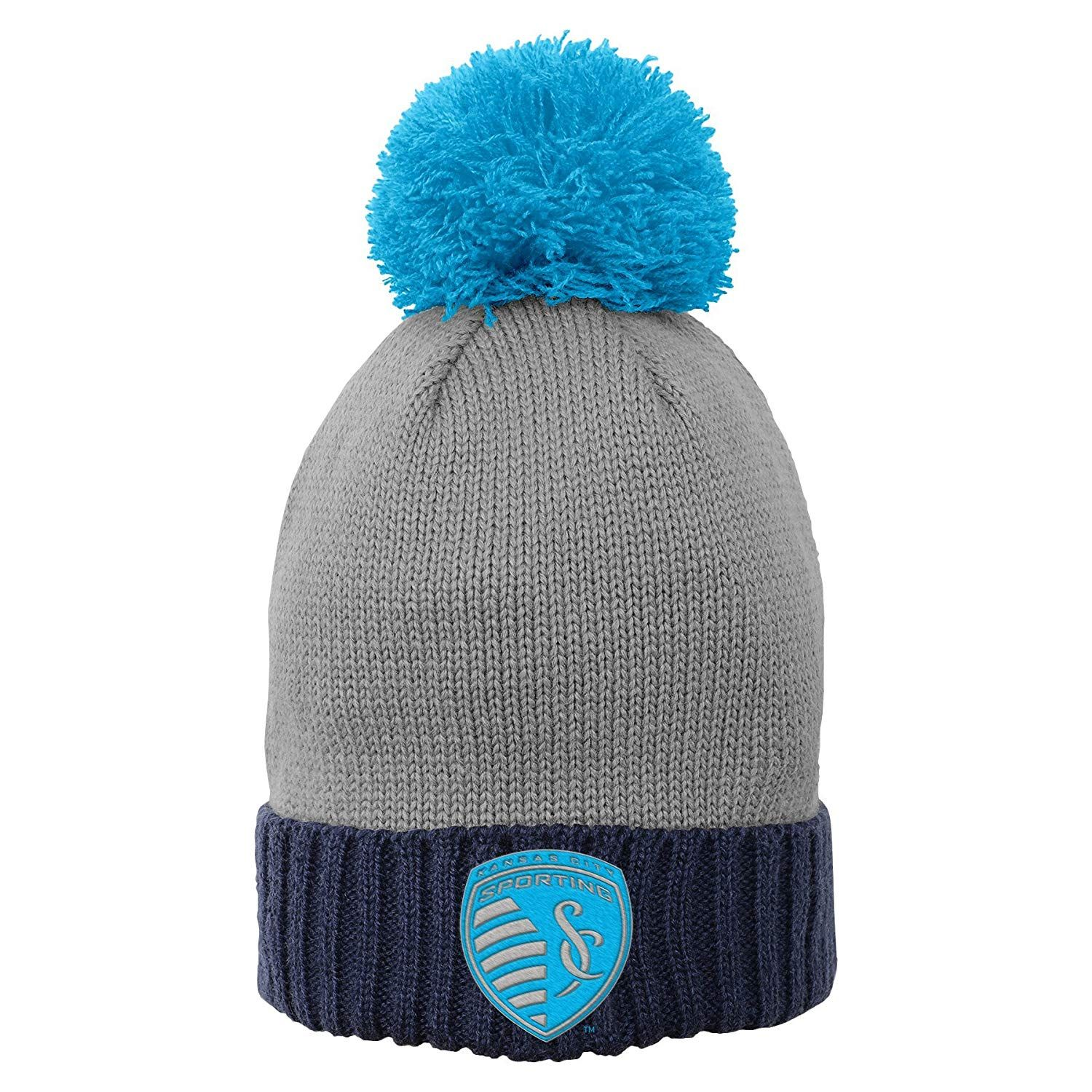MLS by Outerstuff Girls Cuffed Knit Hat with Enlarged Pom