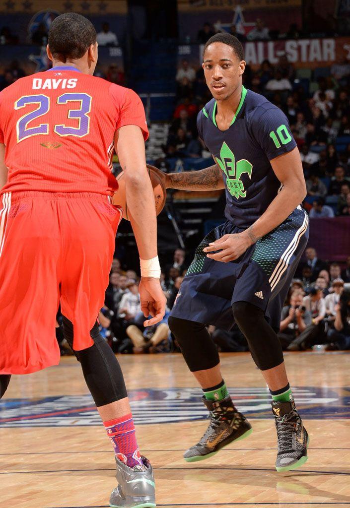 wholesale dealer 45a35 a9d45 DeMar DeRozan wearing Nike Kobe 9 Elite All-Star