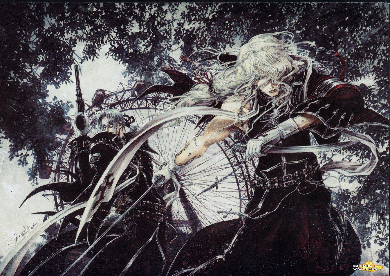 Trinity Blood Abel Nightroad and Hugue de Watteau