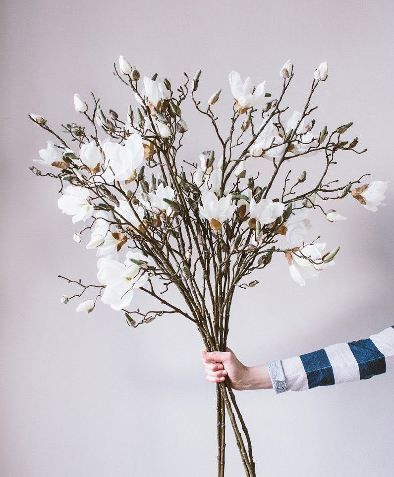 Magnolia Stunning Faux Flowers Olive The Fox Faux Flowers Fake Flower Arrangements Faux Flower Arrangements