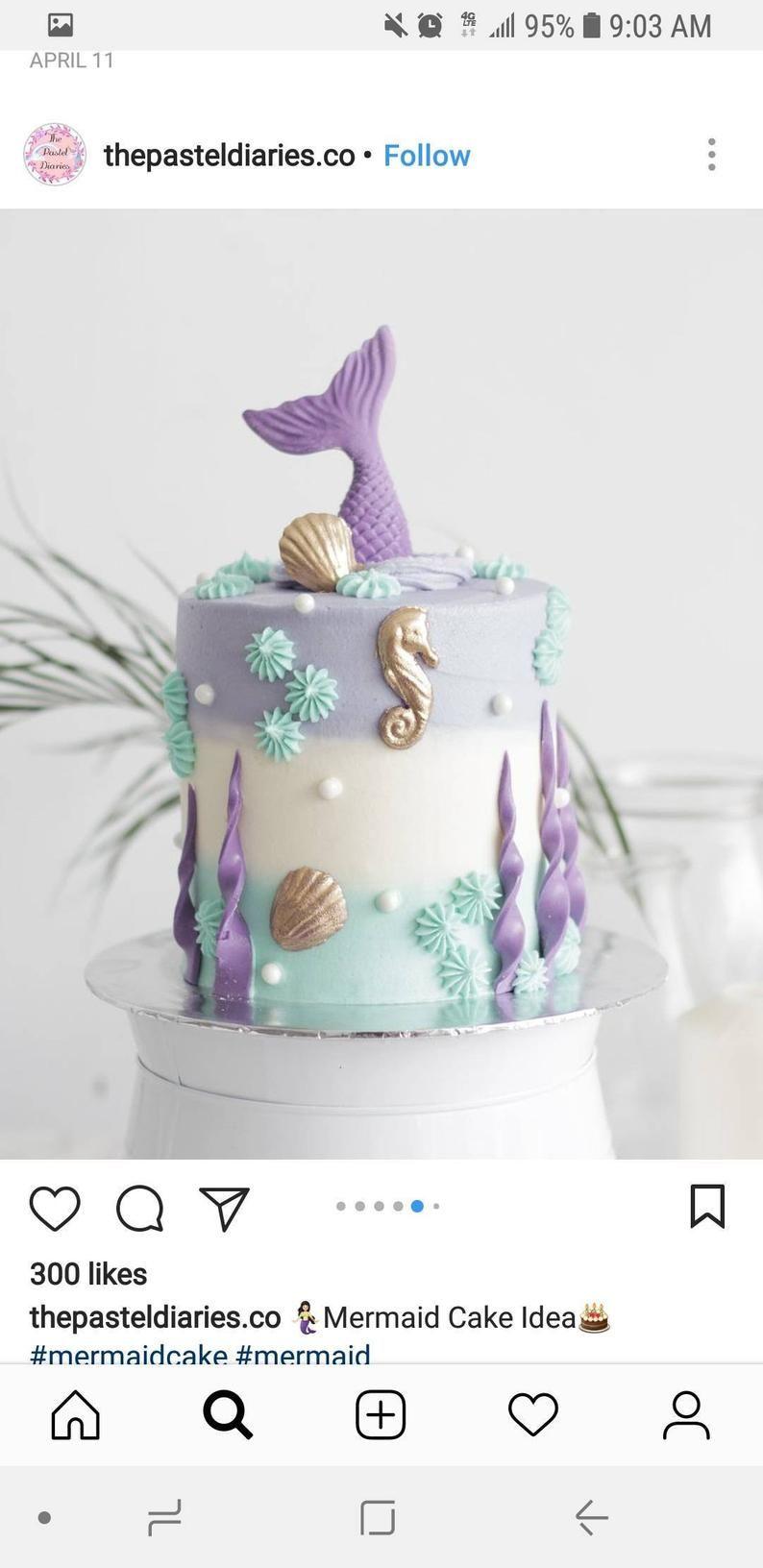 mermaid cake decorations edible