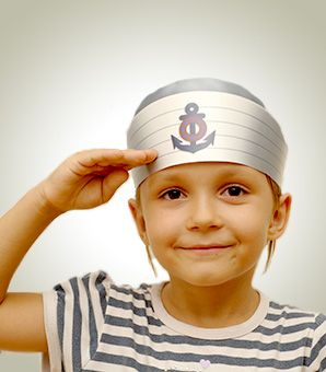 7b8aaed2cc3 A step by step guide to making Paper Sailor hats that s quick