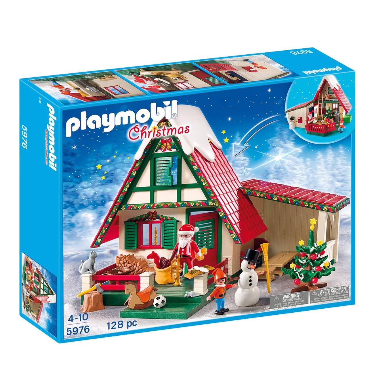 Playmobil Weihnachtsbaum.Playmobil Christmas Zuhause Beim Weihnachtsmann 5976 Playmobil