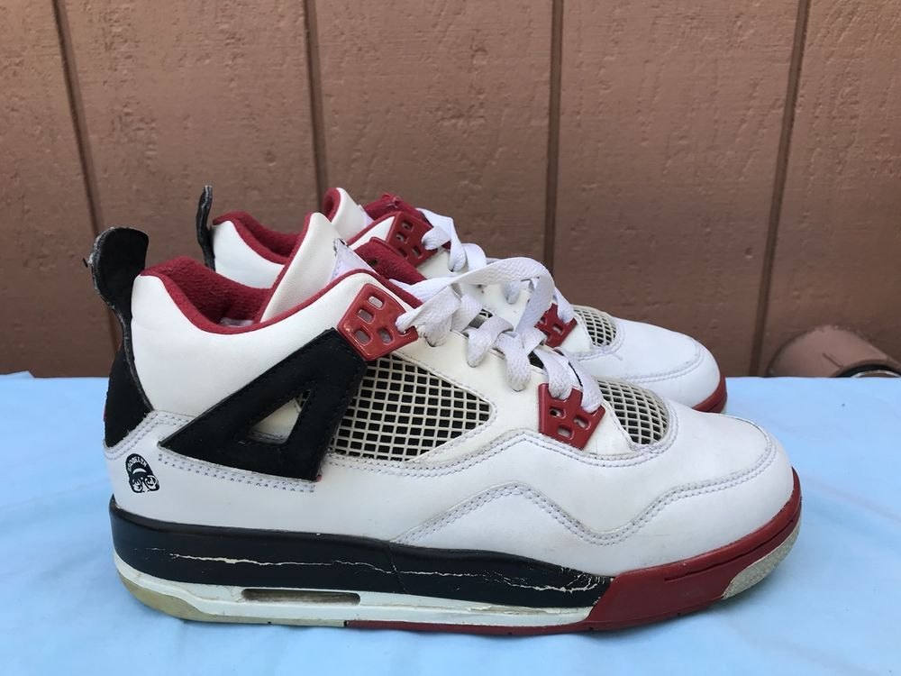 301eecc6ca6 eBay  Sponsored 2006 NIKE AIR JORDAN 4 IV RETRO YOUTH US 6.5Y 308498-162  MARS BLACKMON RED A6