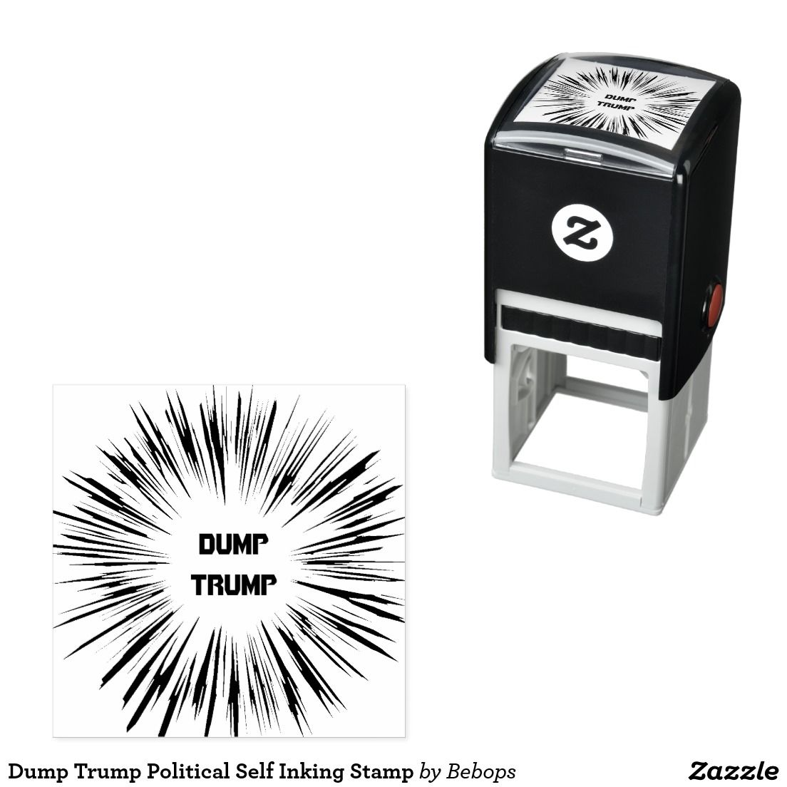 Dump Trump Political Self Inking Stamp