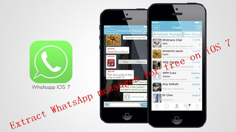 extract WhatsApp messages for free on iOS 7 Free