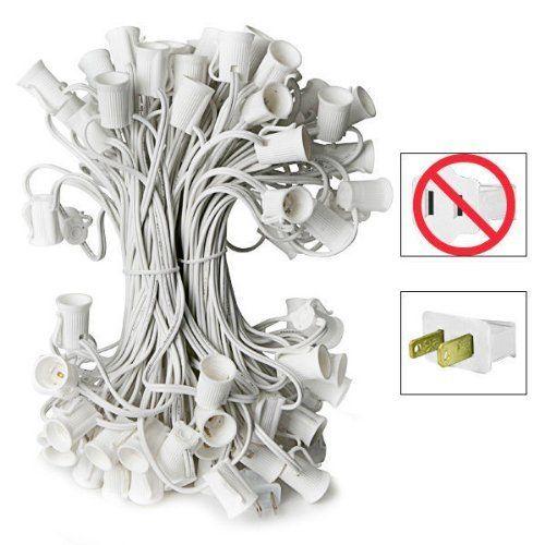50) Sockets - C9 Christmas Light Stringer - Length 50 ft - Socket