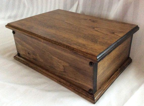 Items Similar To Maple And Mahogany Keepsake Box On Etsy