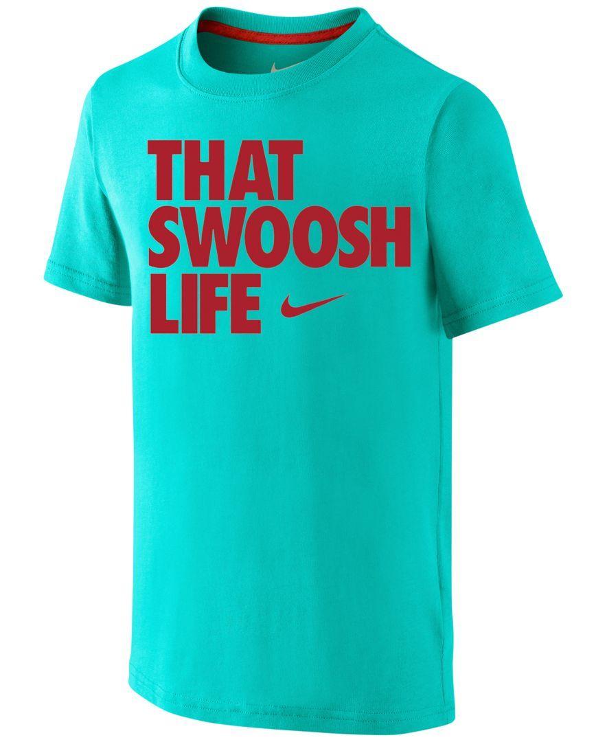 a75c3b70 Nike Boys' That Swoosh Life Tee | buy | Nike, Nike outfits, Tees