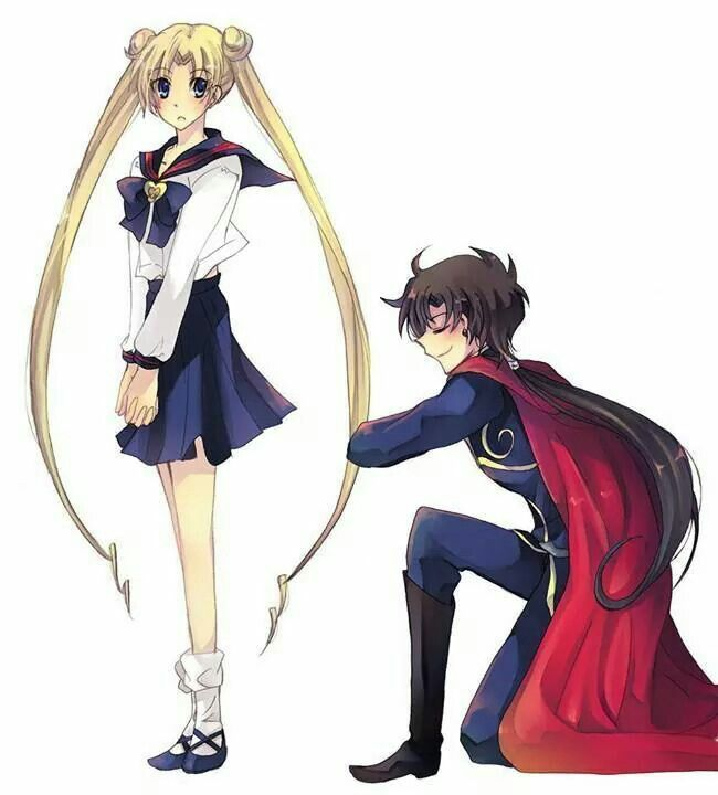 Sailor Moon / Usagi and Seiya Sailor moon. Serena. Sailor scouts. Princess Serena. Anime. Love. Girls.