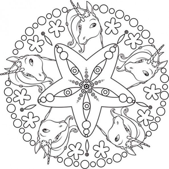 Mandalas Zum Ausdrucken Mia And Me 4 Ausmalbilder Mandala Zum Ausdrucken Mandalas Zum Ausdrucken
