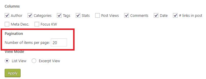 Posts Per Page wordpress