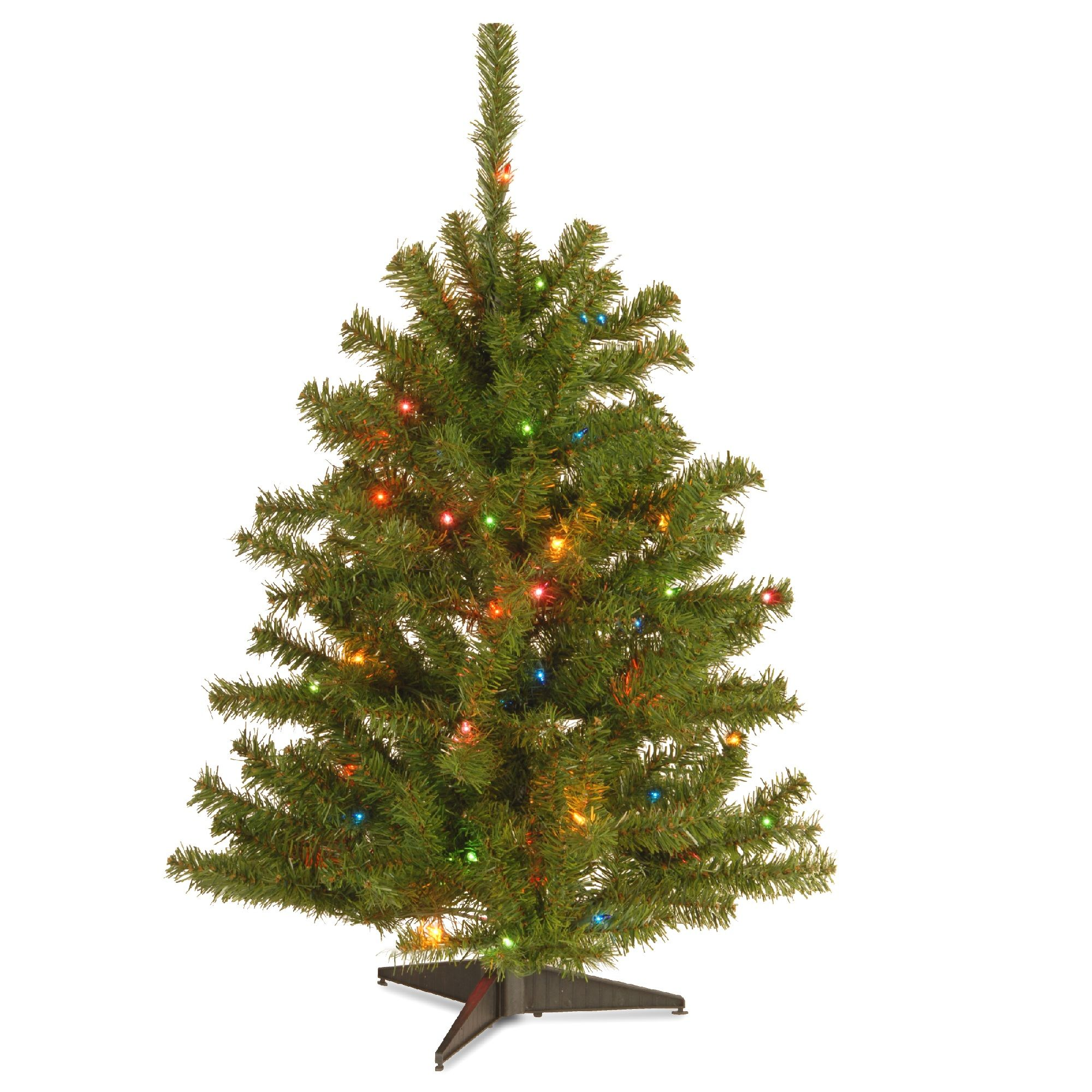 3' PreLit Eastern Spruce Artificial Christmas Tree