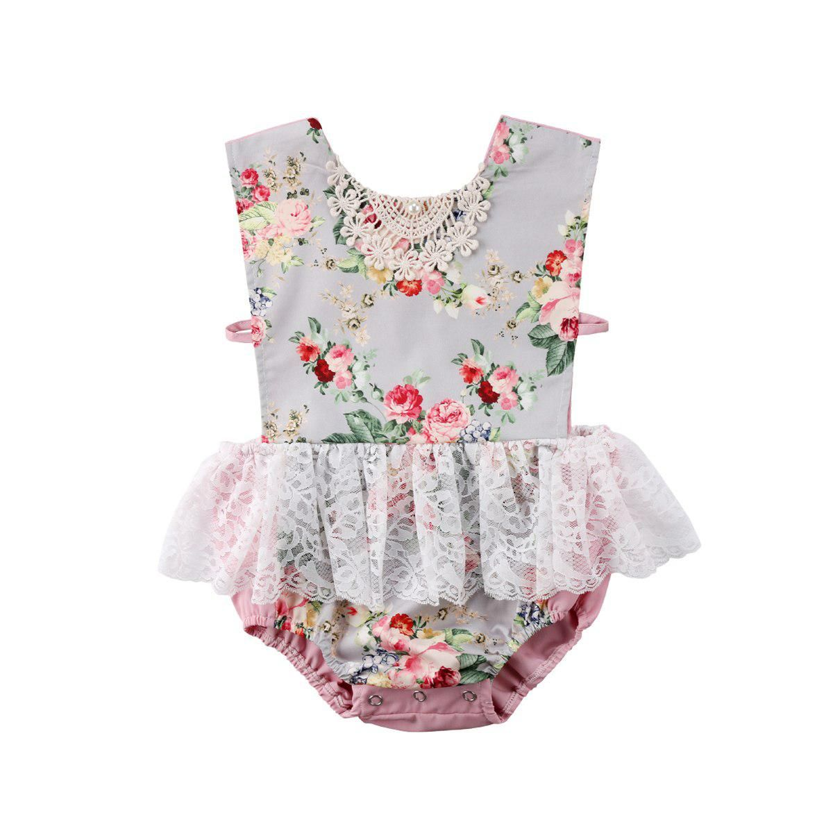 23d6242d2d3b Princess Newborn Infant Kid Baby Girl Sleeveless Colourful Floral Lace Tutu  Dress Skirt Romper Outfit 0-18M. Yesterday s price  US  5.25 (4.69 EUR).