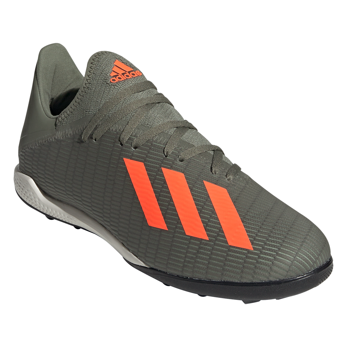 Adidas X 19 3 Tf Artificial Turf Soccer Shoe Legacy Green Solar Orange Chalk White 12 5 Soccer Shoe Indoor Shoe Football Boots