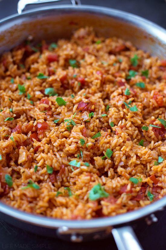 rice dish on Pinterest | Spanish rice recipes, Authentic spanish rice ...