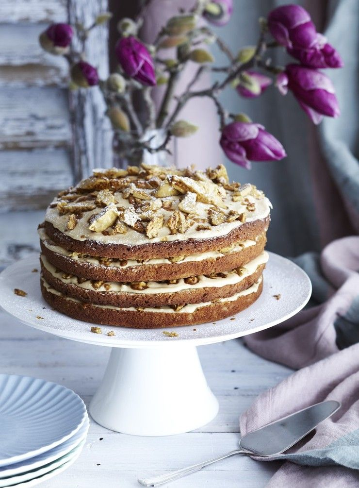 Caramel and Coffee Cake with Mascarpone and