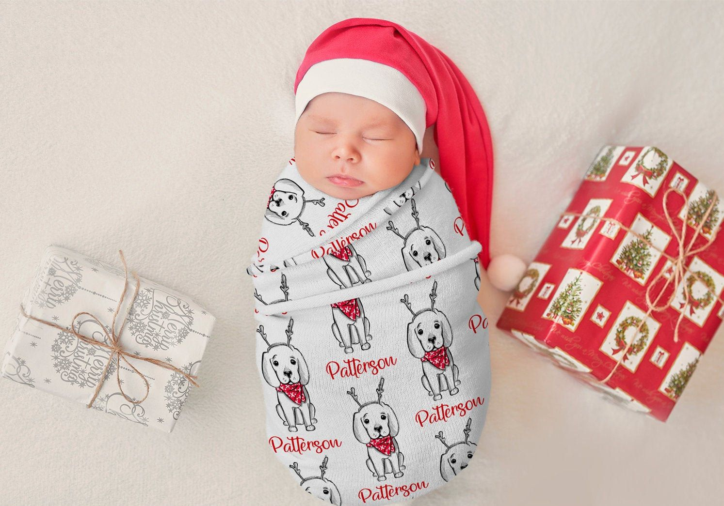 Christmas swaddle blanket baby first christmas baby etsy