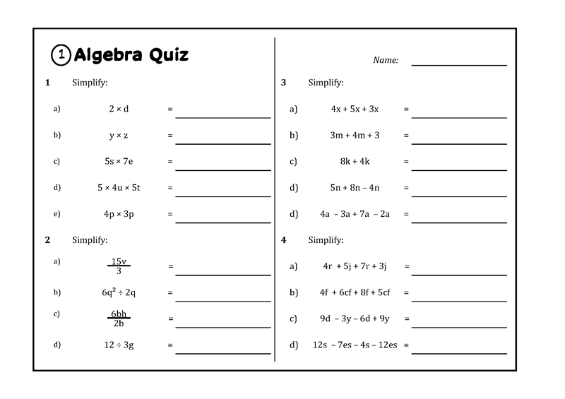 Year 8 Algebraic Techniques Abquiz This Or That Questions Like Terms Techniques