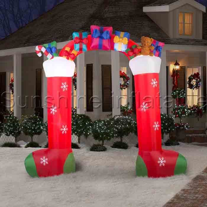 10ft advertising inflatable christmas arches,christmas inflatable