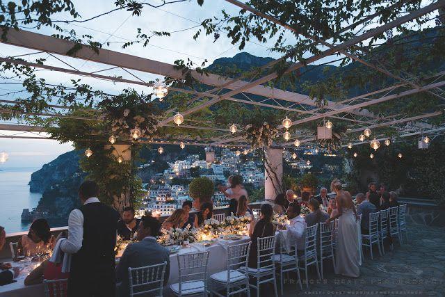 Wedding Reception At Villa Oliviero Lots Of Hanging Lights
