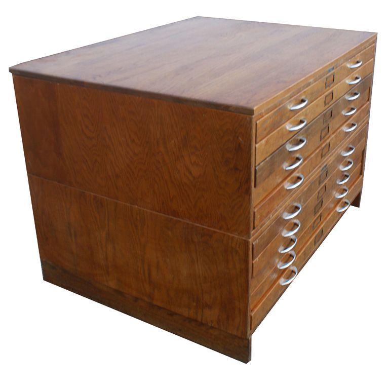 Ten drawer oak mayline flat file cabinet flat file cabinet drawer oak mayline flat file cabinet malvernweather Gallery