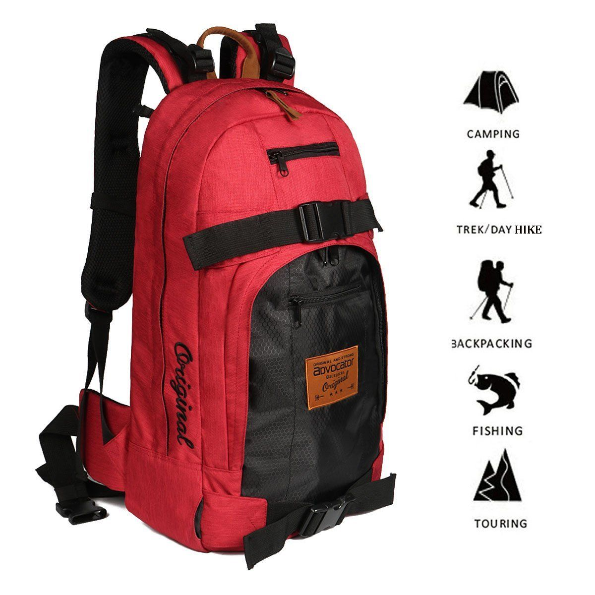 Advocator Water Resistant Hiking Backpack Outdoor Camping