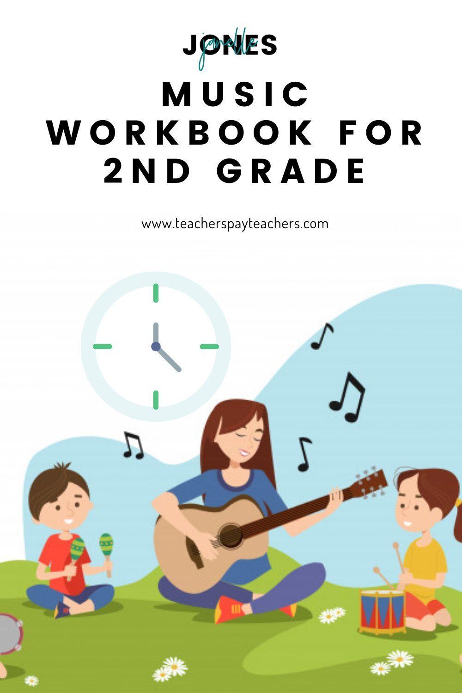 Music Workbook For 2nd Grade Workbook Homeschool Activities Teaching Music [ 1500 x 1000 Pixel ]