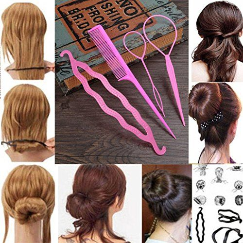 Gijoki 4pcs Women Hair Styling Tool New Hair Needle Dish Set Clip Braid Hair Accessory Plastic Clips Ht Hair Styles Braided Hairstyles Twist Braid Hairstyles