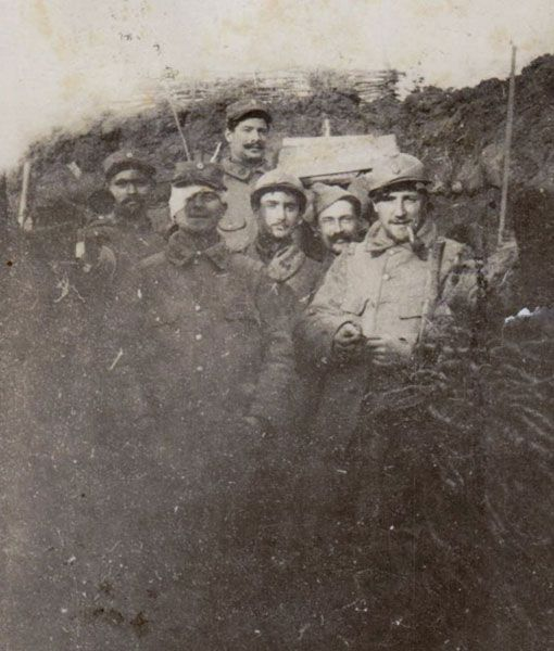 WW1, French trench, Lorraine. Feb 1916.