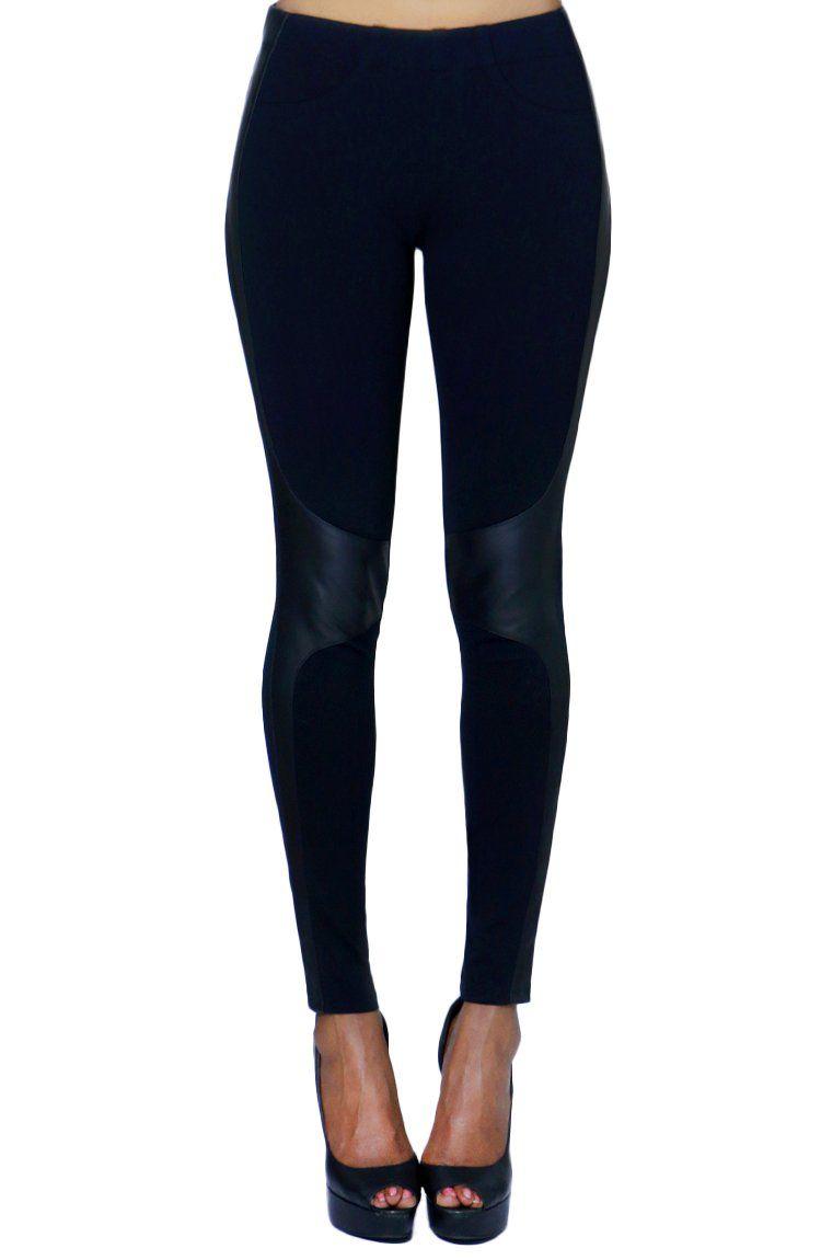 e67a8465c2266 Women's Faux Leather Design Warm Fashion Leggings Collection at ...